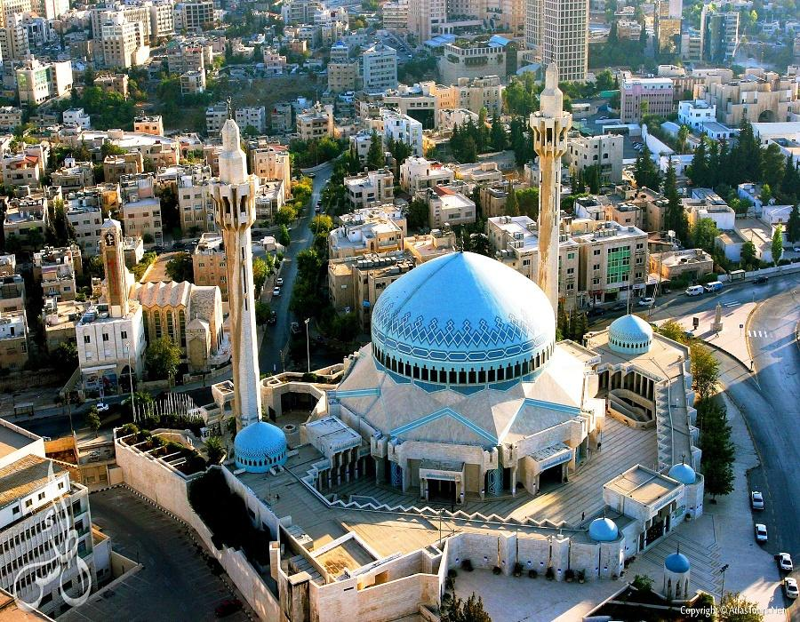 King Abdullah mosque - Air view