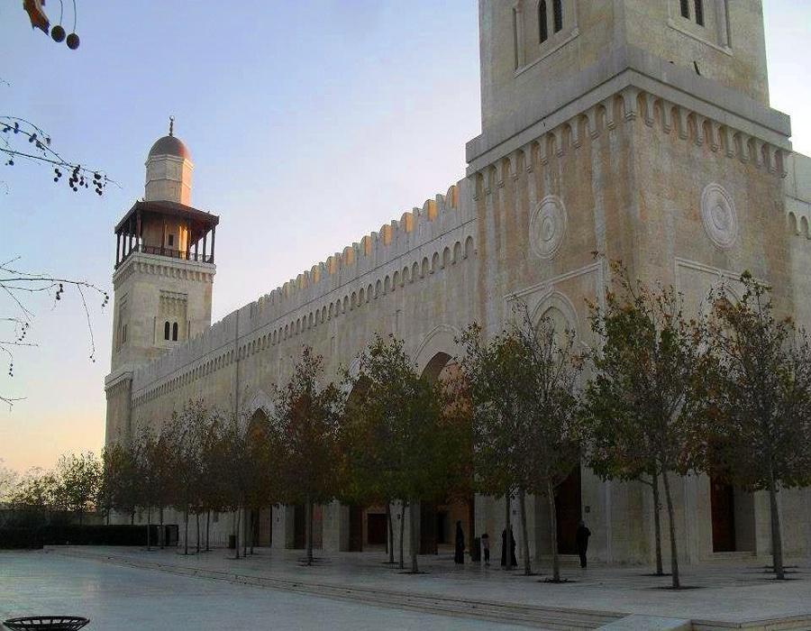 King Hussein Bin Talal Mosque corner view