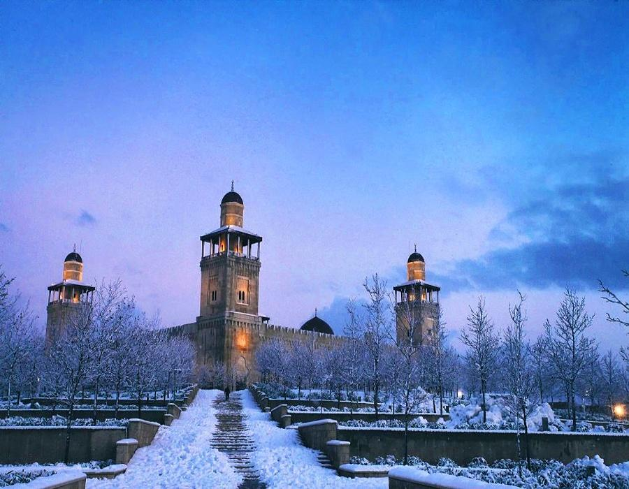 King Hussein Bin Talal Mosque in winter