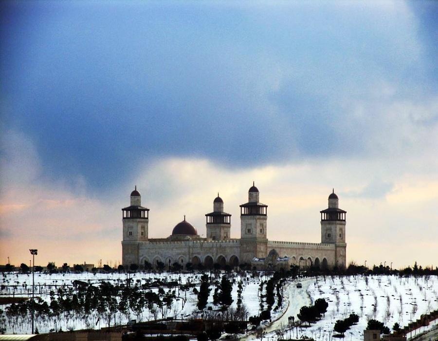 King Hussein Bin Talal Mosque winter view