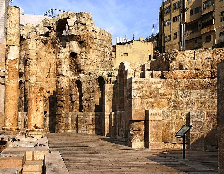 The Nymphaeum at Amman Wooden platform
