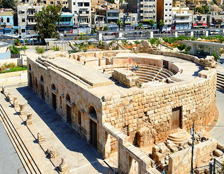 Odeon theater - Amman - Aerial view