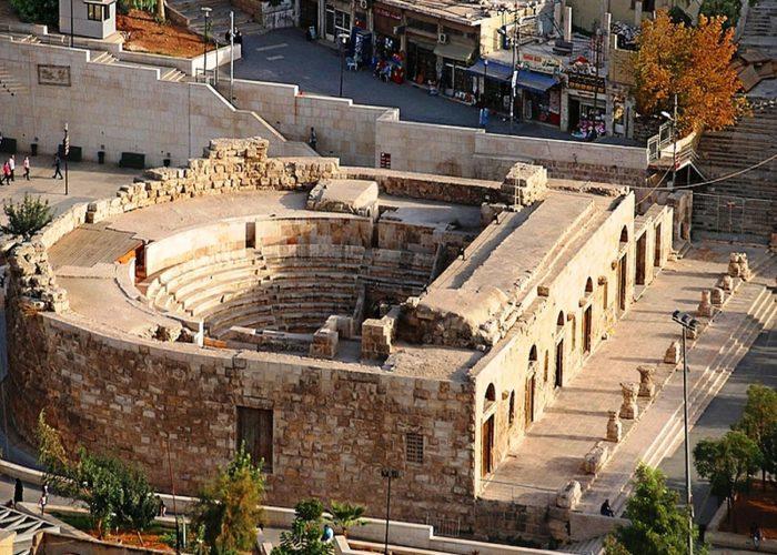 Odeon theater - Amman - Jordan - Aerial view