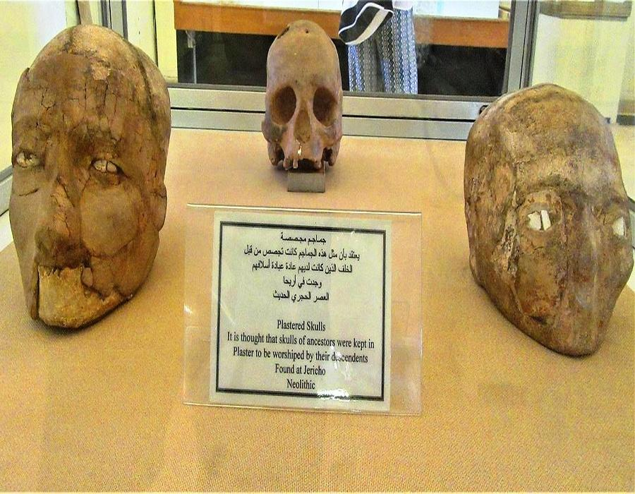 Plastered skull Found in Jericho, Neolithic, 7000 - 6000 BC