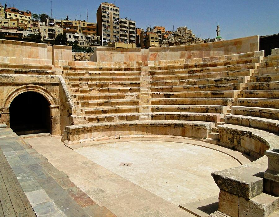 ODEON THEATER - AMMAN -Stage of Odeon, orchestra, seating area