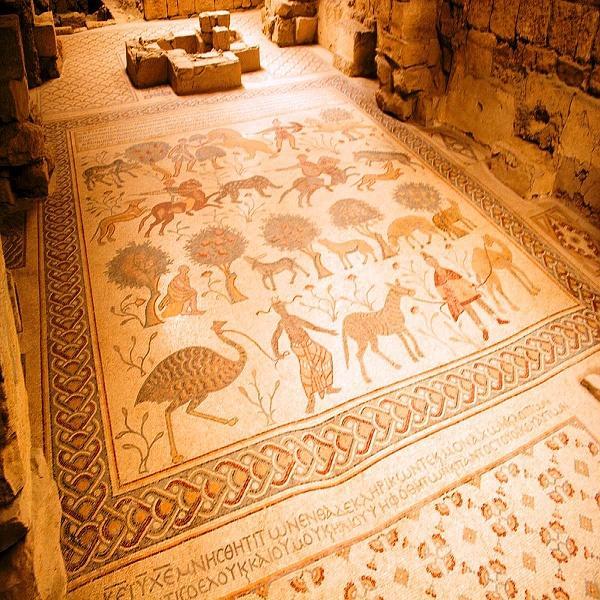 The mosaic in the Diakonikon baptistery