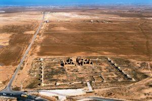 Qasr Al-Mshatta - air view