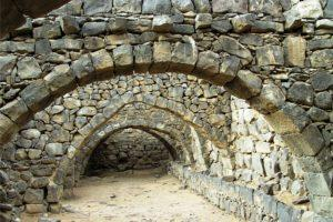 Stone archways of the fortress Qasr Azraq