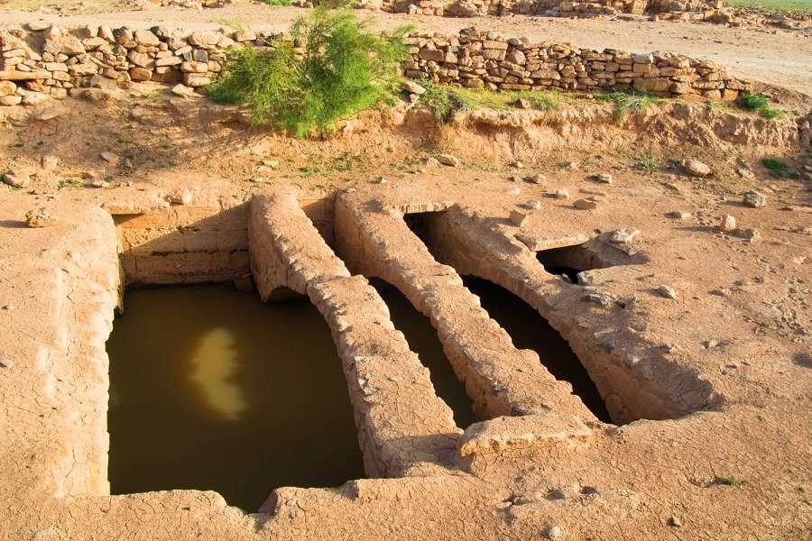 A Nabataean cistern in Humayma (Photo courtesy of John P. Oleson )