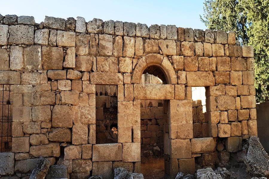 Front wall of a building at Qasr al-Qastal complex